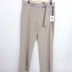 Calvin Klein Pants Khaki Beige Belted Trousers
